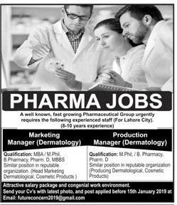 Marketing Manager Dermatology Jobs at Pharmaceutical Company