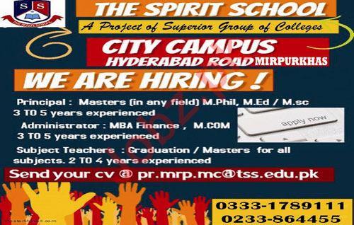The Spirit School Hyderabad Jobs 2019 Principal & Teacher