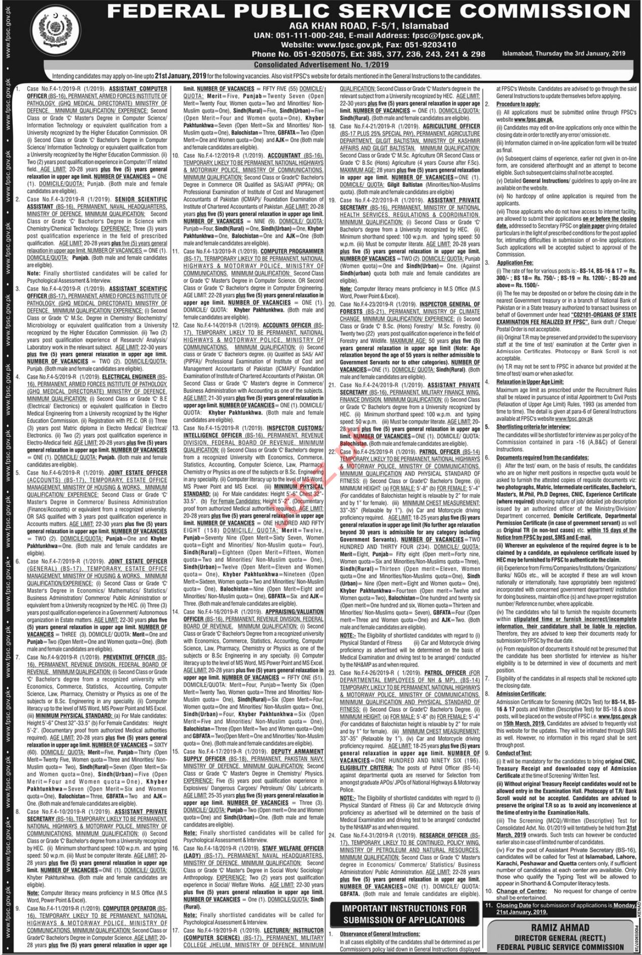Armed Forces Institute of Pathology AFIP Rawalpindi Jobs