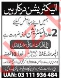 Electrician Jobs Career Opportunity in Lahore