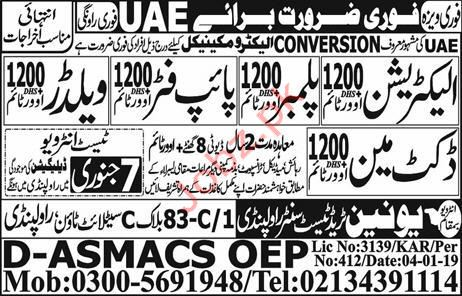 Electrician & Plumber Jobs in UAE