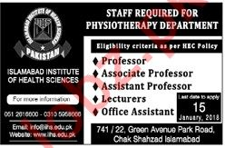 Islamabad Institute of Health Sciences Professor Jobs