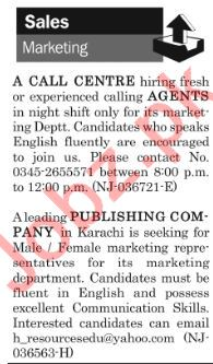 The News Sunday Classified Ads 6th Jan 2019 for Sales Staff