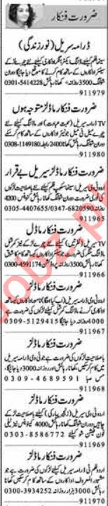 Acting Modeling Jobs 2019 For Media Sector in Lahore