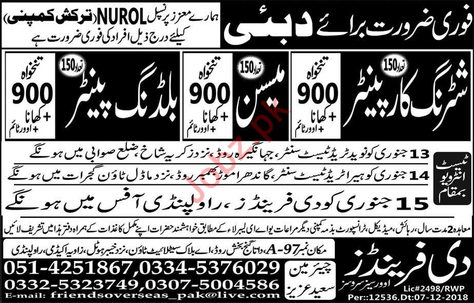 NUROL Turkish Company Jobs 2019 In Dubai UAE