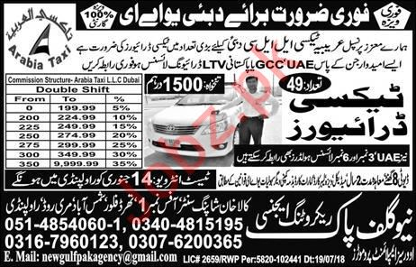 Arabia Taxi Company Jobs 2019 in UAE