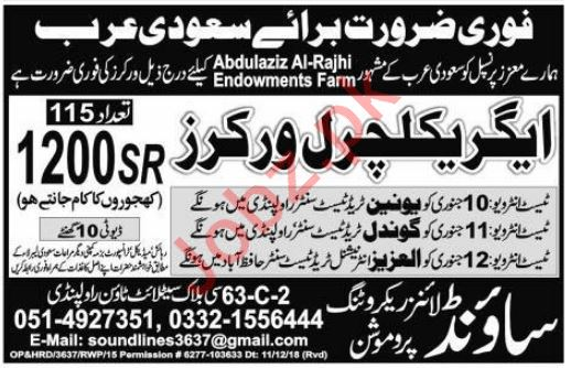 Agriculture Workers Jobs 2019 In Saudi Arabia 2019 Job – Wonderful