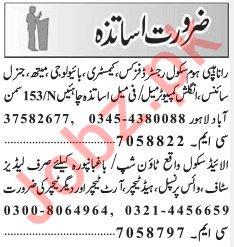 Teaching Jobs 2019 in Lahore
