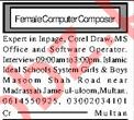 Computer Operator Job 2019 in Multan