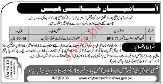 Family Welfare Assistant Jobs in District Population Welfare