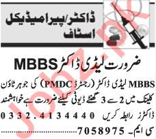 Lady Doctor Jobs 2019 in Lahore