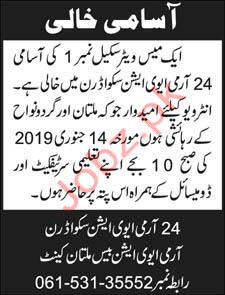 Mess Waiter Jobs in Army Aviation Squadron