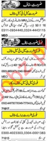 Daily Khabrain Classified Ads 11th Jan 2019