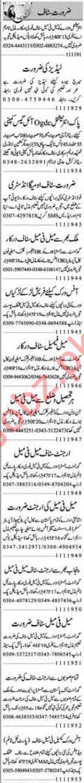 Daily Dunya Newspaper Classified Ads 11th Jan 2019