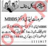 MBBS Doctor Jobs 2019 in Lahore