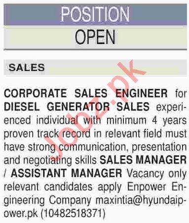 Corporate Sales Sales Engineer & Sales Manager Jobs 2019