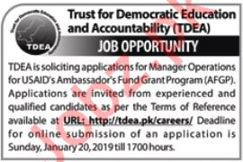Trust for Democratic Education and Accountability Jobs 2019
