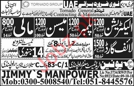 Life Guard, Plumber, Electrician & Mason Jobs 2019