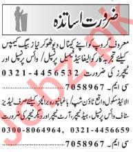 Teachers Jobs Open in Lahore 2019