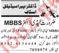 MBBS Lady Doctor Jobs 2019 in Lahore