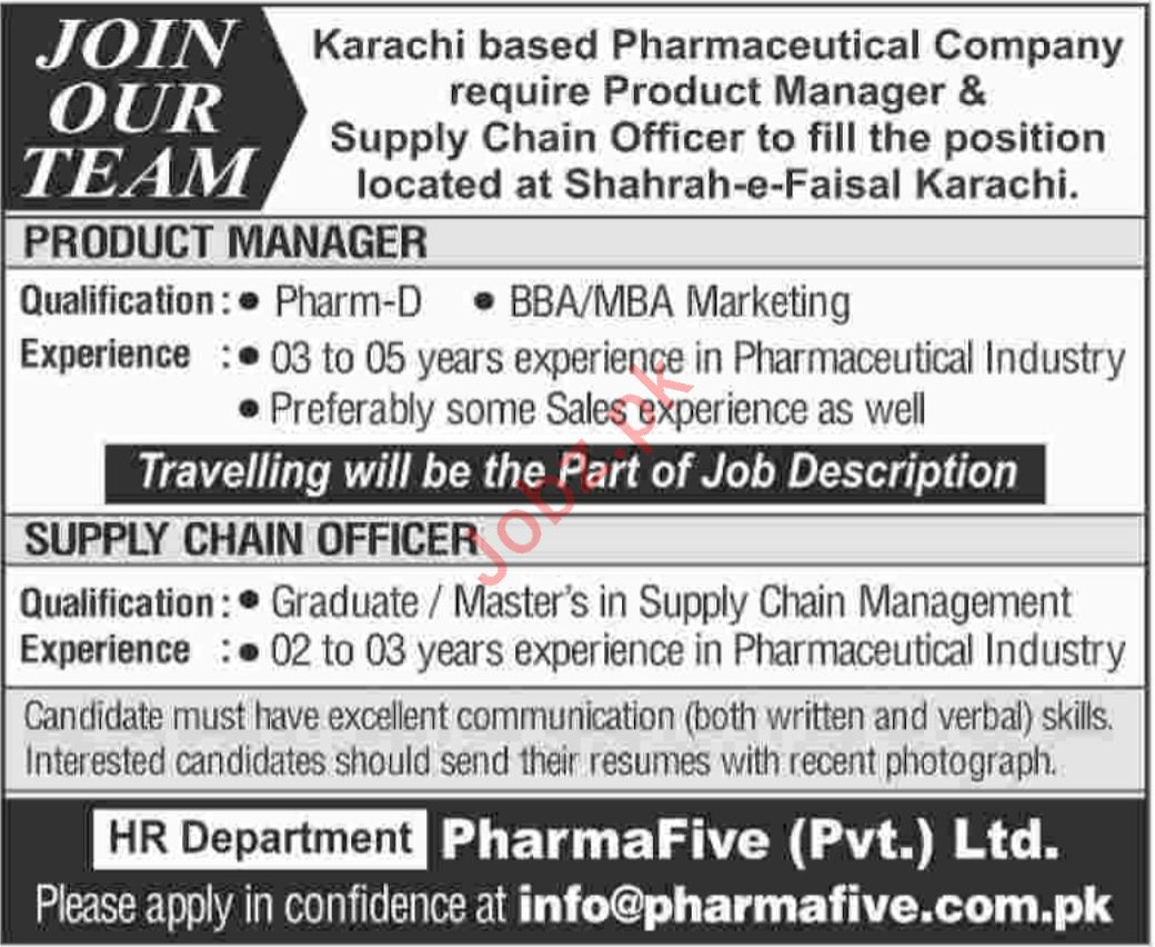 Product Manager & Supply Chain Officer Jobs 2019 in Karachi