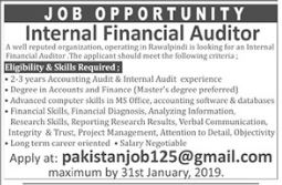 Internal Financial Auditor Jobs in Private Company