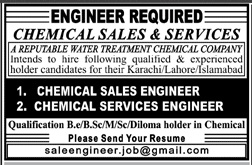 Chemical Sales Engineer Jobs in Chemical Sales & Services