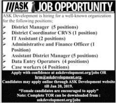 ASK Development District Manager Jobs 2019