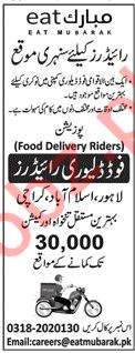 Food Delivery Riders Jobs 2019 in Lahore