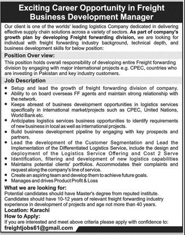 Business Development Manager Jobs in Private Company