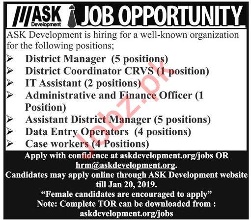 ASK Development Call Center Jobs 2019 in Karachi