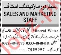Jang Sunday Classified Ads 13th Jan 2019 for Marketing Staff