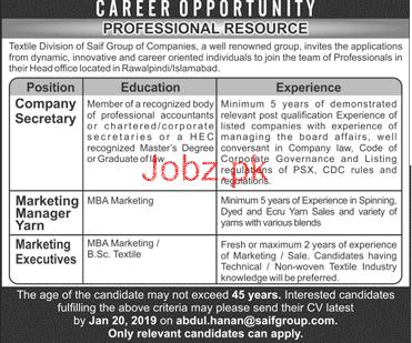 Company Secretary, Marketing Manager Job Opportunity