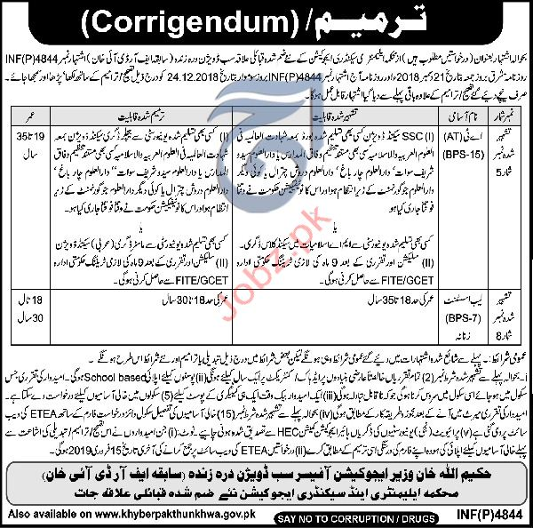 Elementary & Secondary Education Lab Assistant Jobs 2019