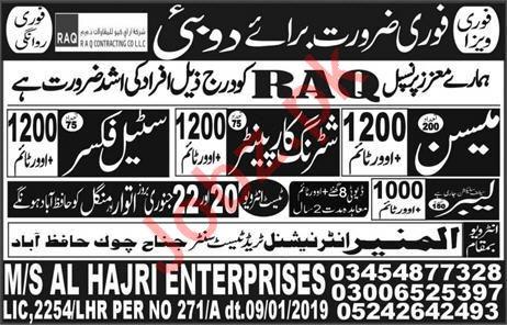 RAQ Contracting Company LLC Construction Jobs 2019 in UAE