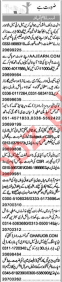 Daily Express Newspaper Classified Ads 2019 For Islamabad