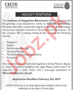 CECOS University Biophysics Professor Jobs
