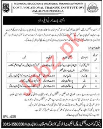 Government Vocational Training Institute For Women Jobs 2019