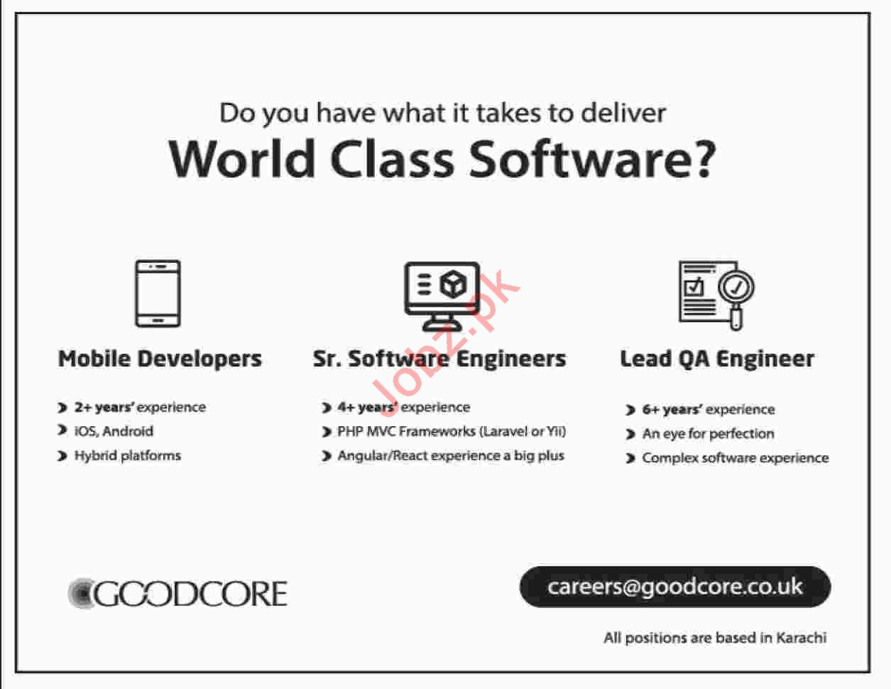 GoodCore Software Limited Mobile Developer Jobs
