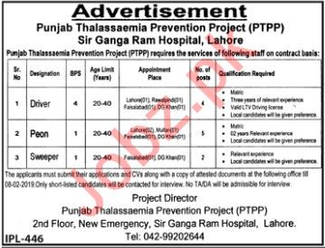 Sir Ganga Ram Hospital Driver Jobs