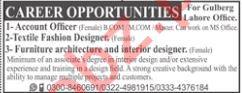 Account Officer, Textile Fashion Designer & Designer Jobs
