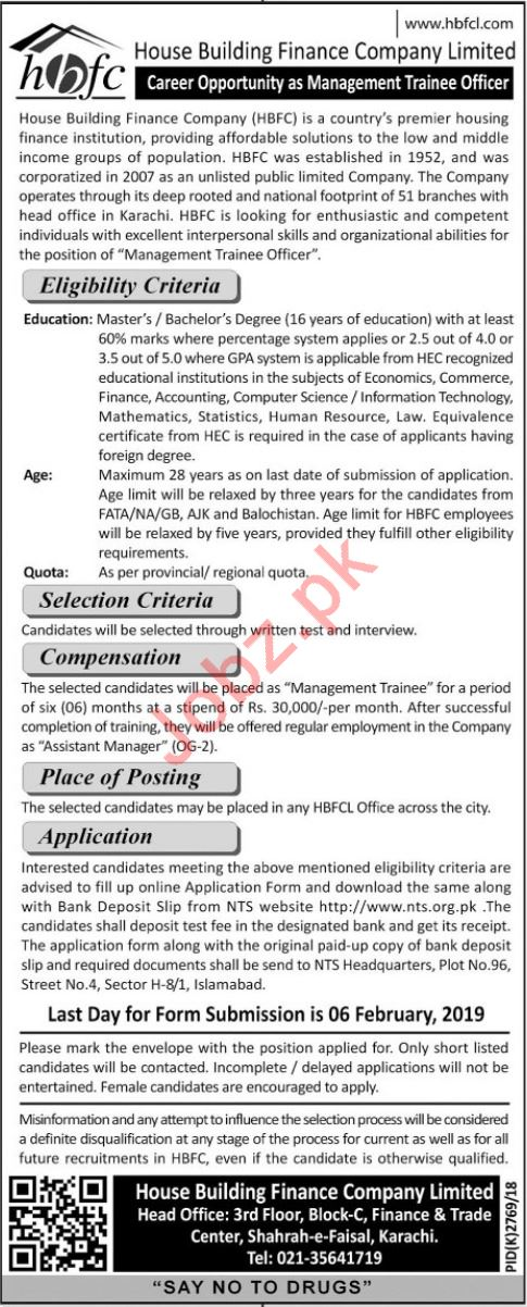 Management Trainee Officer Careers at HBFCL
