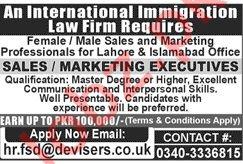 Devisers Pvt Ltd Sales and Marketing Executive Jobs