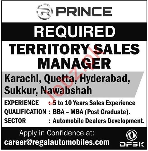 Regal Automobiles Industries Ltd Sales Jobs 2019 Job Advertisement