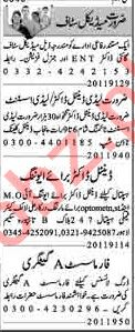 Dunya Sunday Classified Ads 20th Jan 2019 for Medical Staff