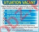 Digital Marketing Experts Jobs 2019 in Peshawar KPK