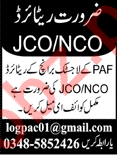 Pakistan Air Force PAF Logistic Branch Jobs 2019