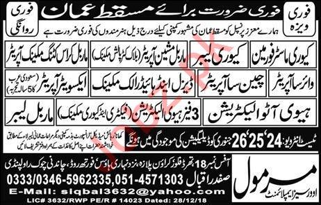Construction Jobs 2019 For Muscat Oman 2019 Job