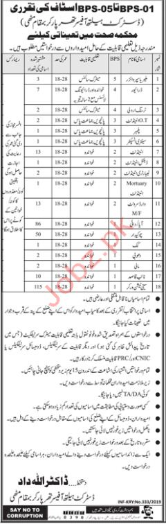 District Health Office Medical Staff Jobs 2019