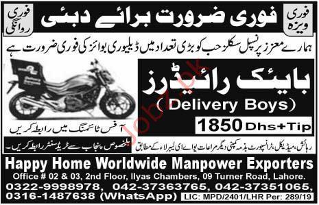 Bike Rider Jobs in Dubai